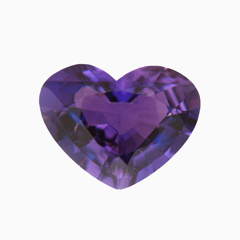 Amethyst Heart Shape